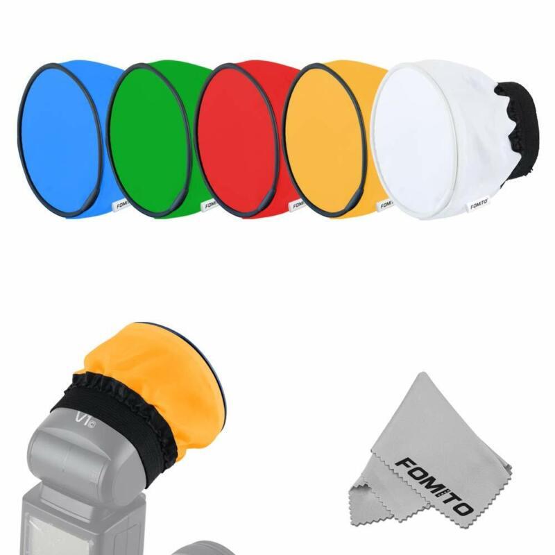 Fomito Flash Diffuser Color Gel 5pcs for Godox V1 Flash