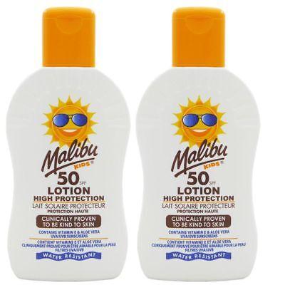 Malibu Kids Sonnenlotion für Kinder Sonnenschutz 2 x 200 ml NEU mit LSF 50