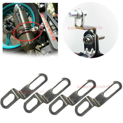 12Pcs Motorcycle Exhaust  Muffler Tail Pipe Mounting Coil Spring Pull Hooks