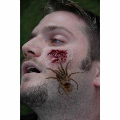 Spinne Halloween (Spinne Attack Prothetisch Wunde Halloween Prothetisch Schminke Kostüm Scab)