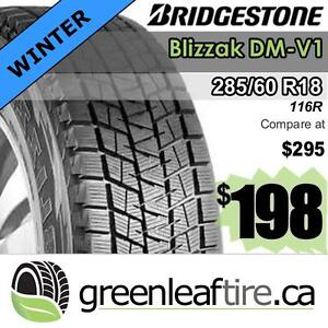 285/60R18 winter tires $198  - plus $70 rebate