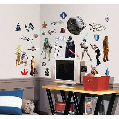 31 New CLASSIC STAR WARS WALL DECALS Movie Stickers Decorations Bedroom Decor - Star Wars Bedroom Decorations
