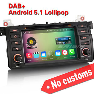 bmw e46 autoradio dvd dab gps navi obd tactile quad core android 5 1 hd 4046bfr. Black Bedroom Furniture Sets. Home Design Ideas
