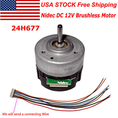 Nidec Dc 12v Brushless Motor With Built-in Driver Hall Cwccw Pwm Brake Function