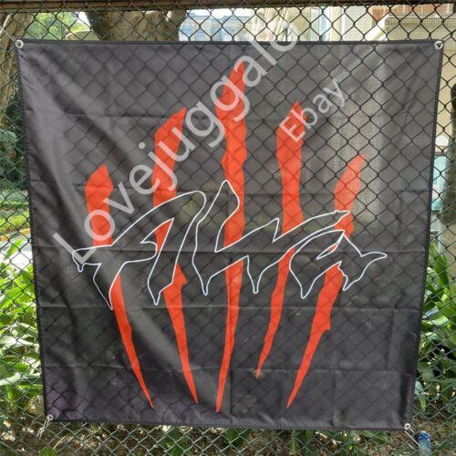 Alva Skateboard Banner Logo Flag Tapestry Art Fabric Poster 4x4 ft