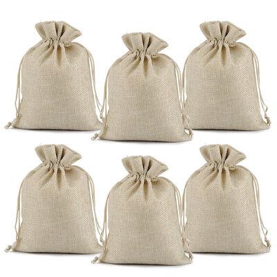 25 50 100 Wedding Favor Hessian Burlap Jute Favour Linen Gift Bags Sack Pouch