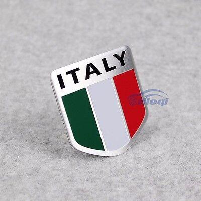 Car Alloy Aluminum 3D Italy Italian Flag Emblem Badge Decals Sticker