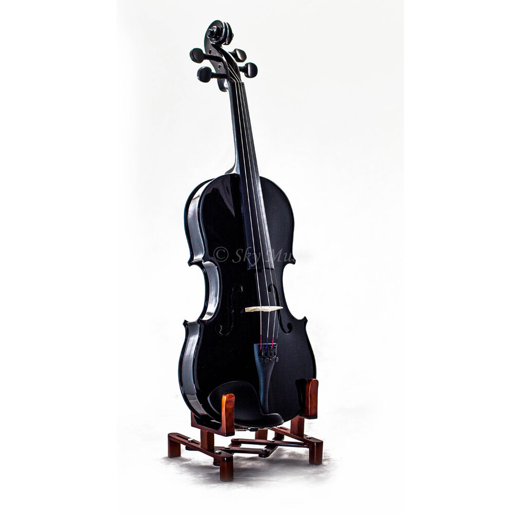 New Black Student 4//4 Violin Kit w Two Brazilwood Bows!
