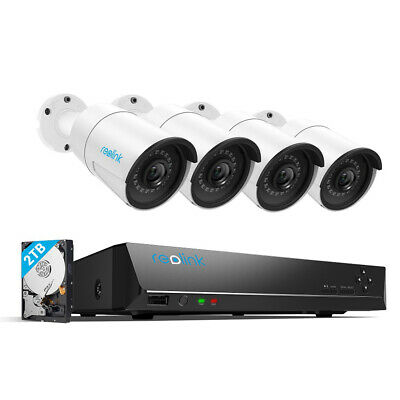 Reolink RLK8-410B4 Waterproof Home Security Camera System Wi