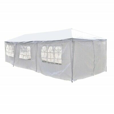 ALEKO Portable Garage Carport Car Shelter Party Tent Canopy 30 x 10 Ft White for sale  Shipping to South Africa