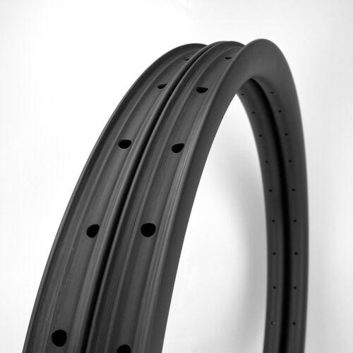 "SALE 32mm Width Carbon Fiber 29"" Mountain Clincher Rim Tubeless 1PAIR"