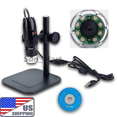 US 20x - 800x 2MP USB Digital Microscope Endoscope Video Inspection Camera PCB on Rummage