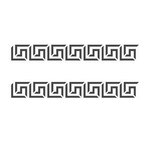 Greek key side border stencil reusable template for for Greca adesiva per muro
