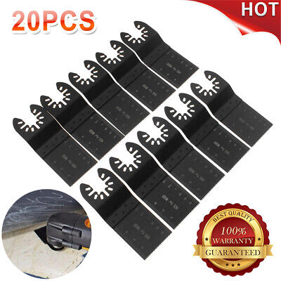 20PC Saw Blade Oscillating Multi Tool For Fein Bosch Milwaukee Porter Cable