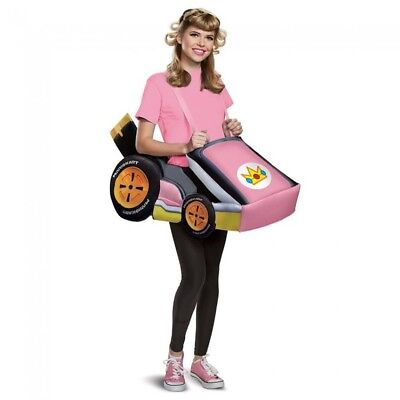 Princess Peach Mario Kart Adult Costume Super Bros Kit Game Cart Group Halloween - Princess Peach Adult Games