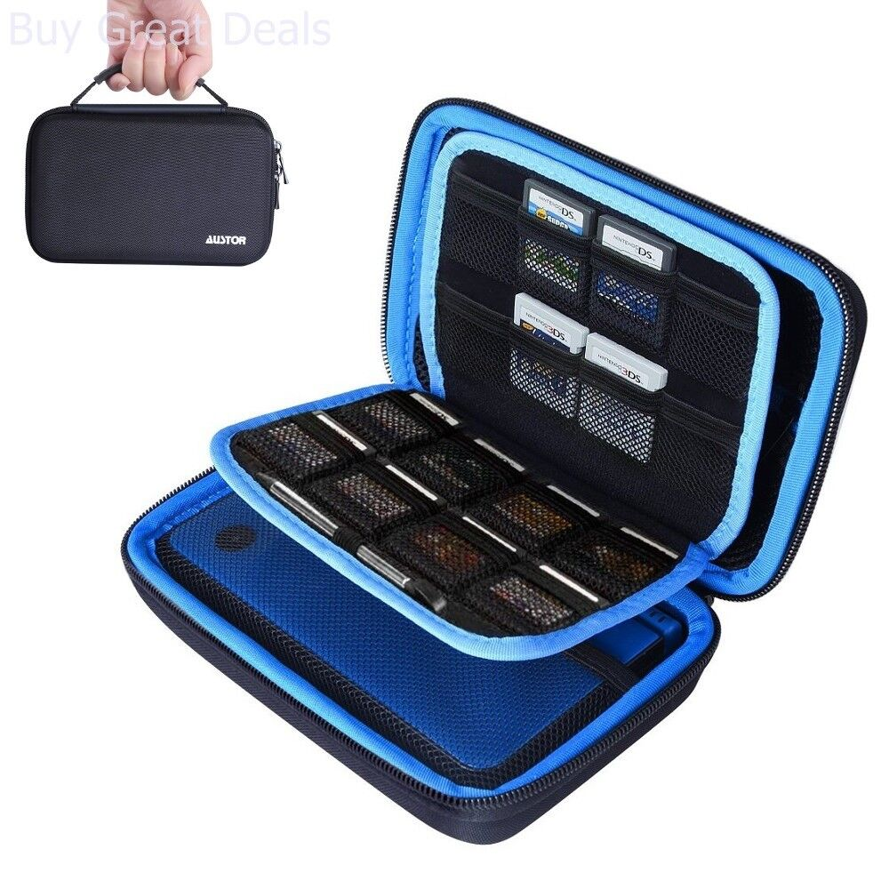 Austor Travel Carrying Case for New Nintendo 3DS XL up to 16