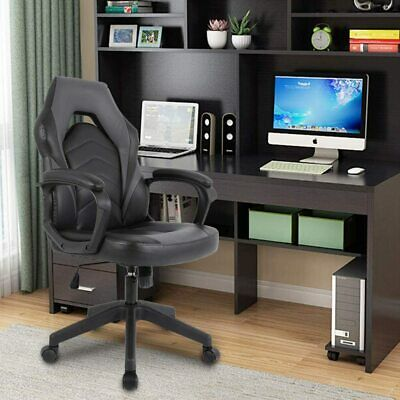 Massage Gaming Chair Executive Bonded Pu Leather Computer Game Office Desk Chair