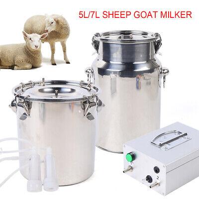 5l Dual Head Sheep Goat Cow Milking Machine Vacuum Impulse Pump Milker Stainless