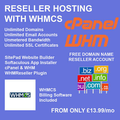 Reseller Hosting With Whmcs Cpanel Whm Unlimited Domains Ssl Sell Hosting