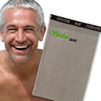 Best Man Exfoliating Face Body Back Glove Natural Deep Skin Scrub Shower