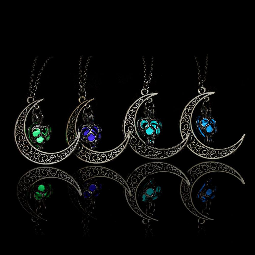Jewellery - Crescent Sailor Half Moon Glow In The Dark Pendant Necklace Women's Jewelry Gift