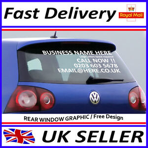 Car Rear Window Stickers Advertising Vinyl Lettering Graphics Decals