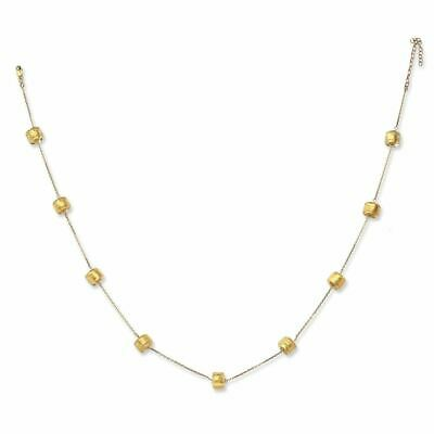 """14K Yellow Gold Murano Glass 6x8MM Bead Necklace, 16"""" MSRP $"""