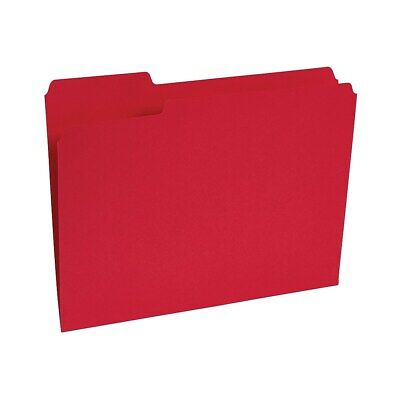 Staples Colored File Folders 1/3-Cut Tab Letter Size Red 100/Box (224519)