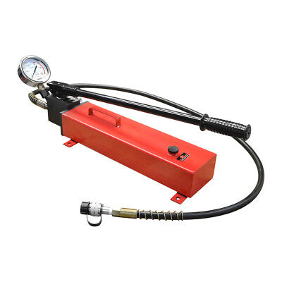 Electric Manual Air Pumper Single Acting Hydraulic Hand Pump Mh7 Pressure Gauge