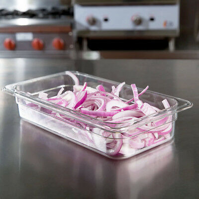 12 Pack 13 Size Commercial Clear Plastic Steam Prep Table Food Pan 2 12 Deep
