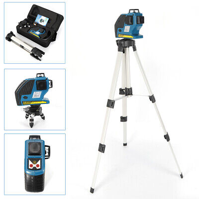 12 Line Green Laser Level Self Leveling 3D 360° Rotary Cross Measure Tool (Best Self Leveling Rotary Laser)
