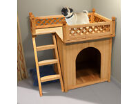 New Dog Kennel Dog house Wood Garden Dog Cage Pet Kennel Puppy Outdoor Animal Kennel