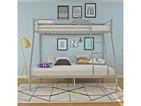 🔥🔥DON'T MISS OUT!🔥🔥BRAND NEW TRIO SLEEPER METAL BUNK BED SAME DAY EXPRESS DELIVERY