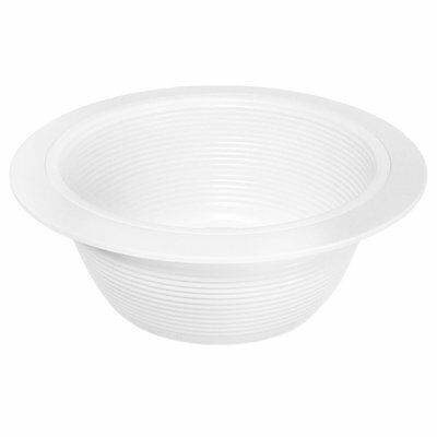 Elite Lighting 6 Pack Trim - 6 Inch White Baffle Recessed Can Light
