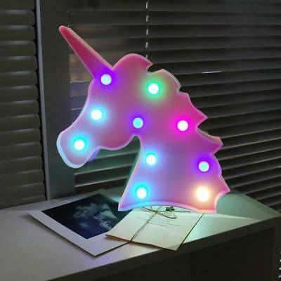 Night Lamp LED Light Teen Unicorn Broad Bedroom Living Room Decoration Wall Lamps
