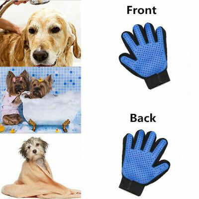 2x Pet Grooming Glove Brush Dog Cat Fur Hair Removal Mitt Massage Deshedding