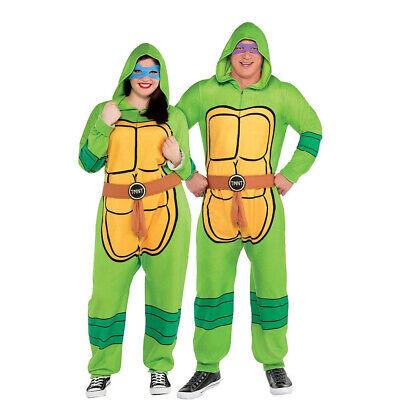 NEW Adult Nickelodeon Zipster Teenage Mutant Ninja Turtles Pajamas Sz Plus XXL