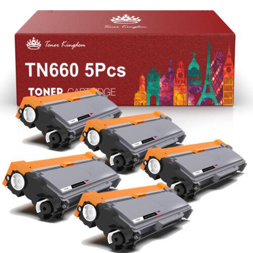 5 High Yield Toner Cartridge For Brother TN660 TN630 Printer