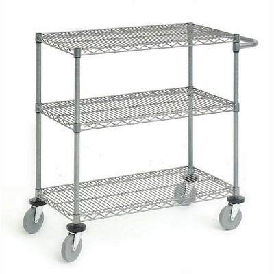 Wire Display Cart Utility Cart Flint Steel Wire Cart - 36 L X 24 W X 39 12 H