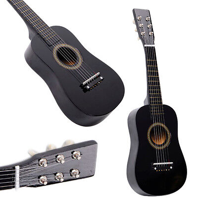 "23"" Beginners Kids Acoustic Guitar 6 String with Pick Children Kids Gift Black"