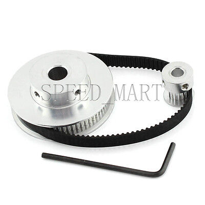3d Printer Gt2 60t 15t Belt 6mm Timing Pulley Belt Set Kit Reduction Ratio 41