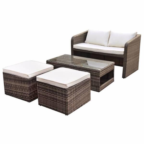 Luxo Nevis 4 Seater PE Wicker Outdoor Furniture Set   Brown | Lounging U0026  Relaxing Furniture | Gumtree Australia Blacktown Area   Seven Hills |  1159105158 Part 55