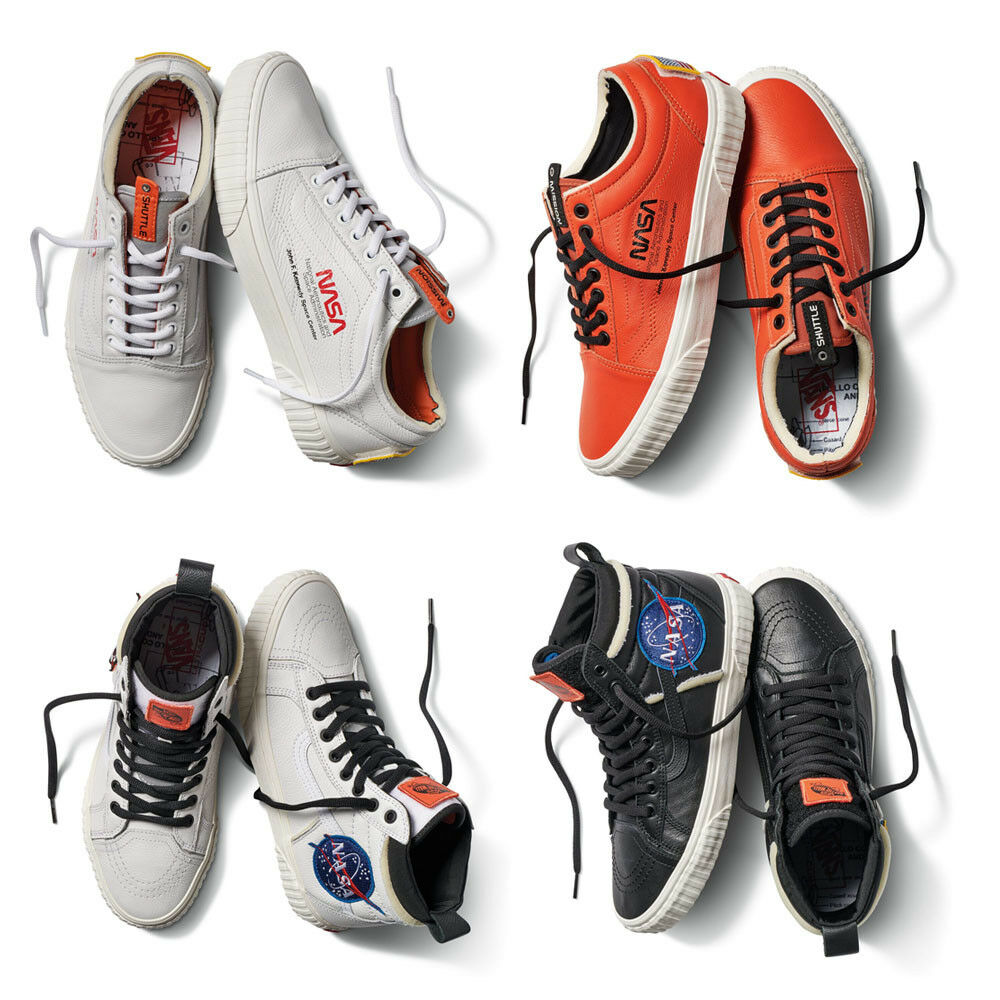 Vans x NASA Space Voyager Old Skool SK8-HI 46 MTE DX White Firecracker Black be0d13403