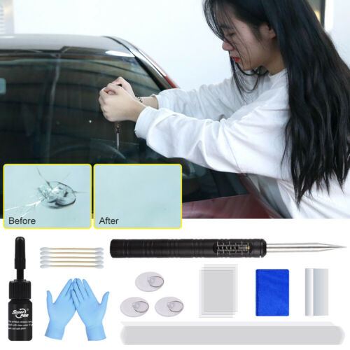 US DIY Car Wind Glass Windshield Windscreen Repair Tool Kit For Auto Chip Crack