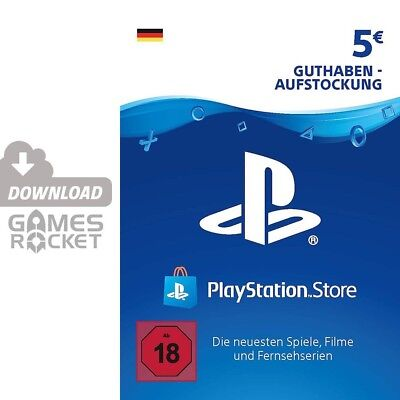 5€ PSN DE Playstation Network Code Card 5 Euro € EUR | PS4, PS3, Vita Guthaben
