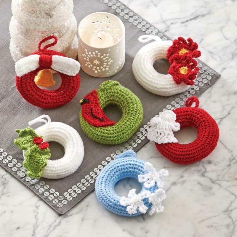 Herrschners® Christmas Wreath Ornaments Yarn Kit