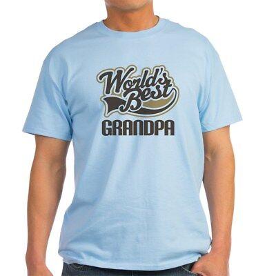 CafePress Worlds Best Grandpa Light T Shirt 100% Cotton T-Shirt