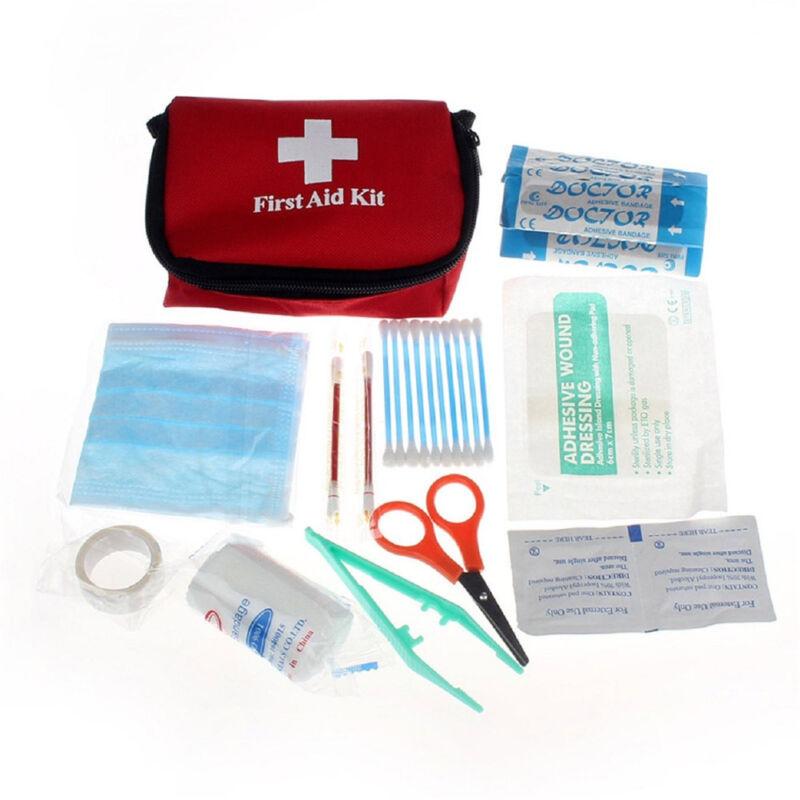 11PcsMini Outdoor Wandern Überleben Reise Notfall Erste-Hilfe-Sets First Aid Kit