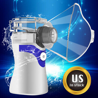 Adult Kids Ultrasonic Handheld Nebulize Portable Inhaler Machine Mouthpiece Kit , usado segunda mano  Embacar hacia Argentina