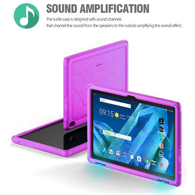 Lenovo Moto Tab Tablet Case [Shockproof] w/Drop Protection Silicone Cover Purple for sale  Shipping to India